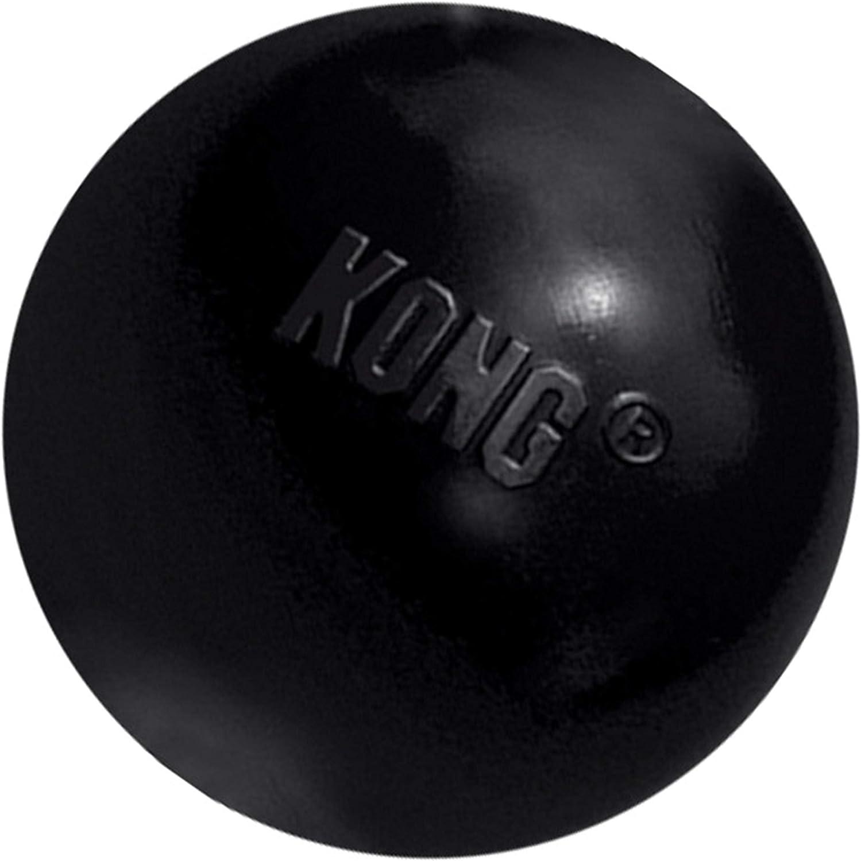 KONG - Extreme Ball - Juguete de caucho para mandíbulas potentes, negro - Para Perros Medianos/Grande