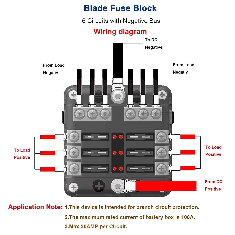 Linkstyle 10 Way Blade Fuse Box Holder Automotive Block Dc 32v With