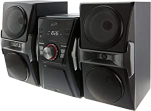 iLive IHB624B Bluetooth CD and Radio Home Music System with Color Changing Lights, Includes Remote, Black (Renewed)