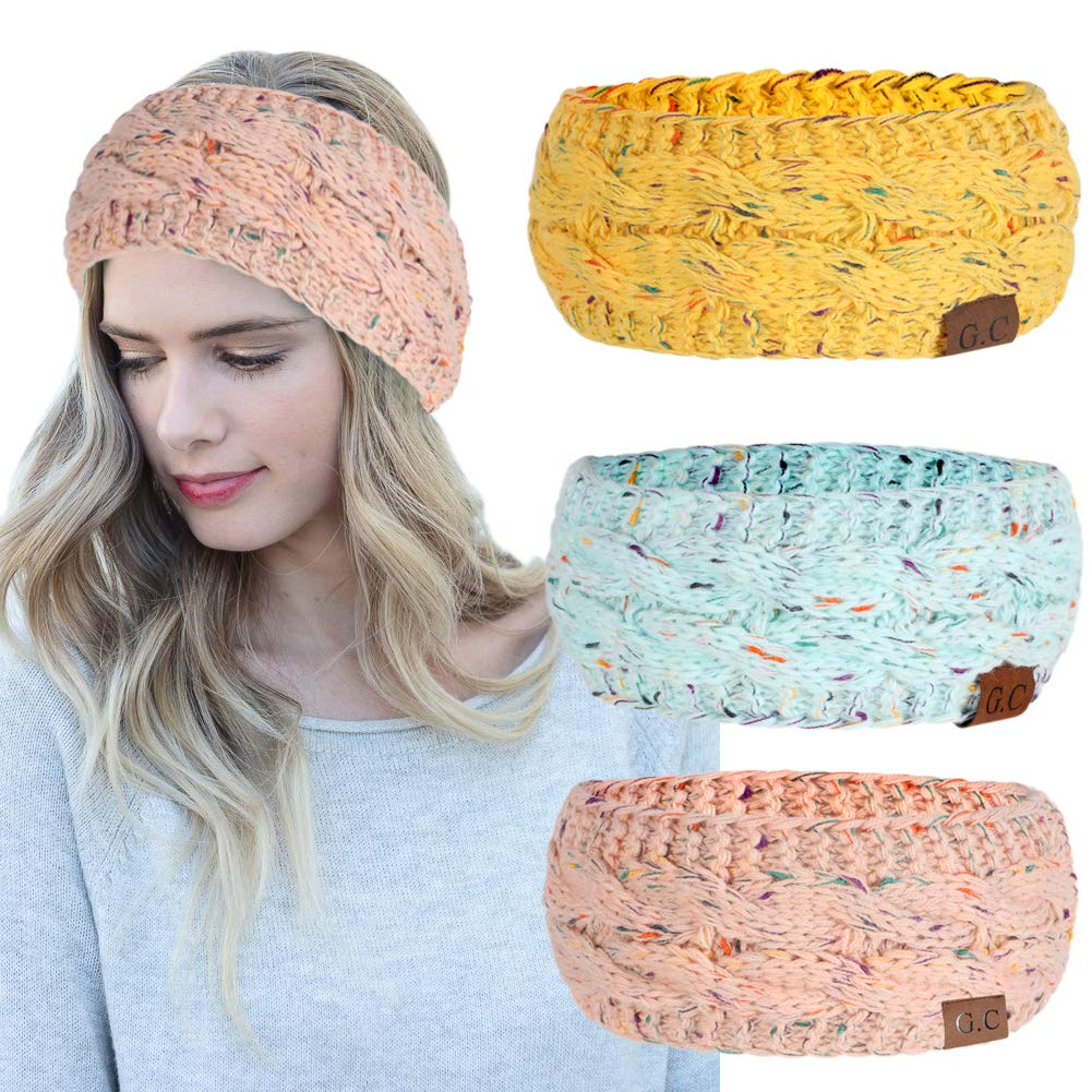Amazoncom Women Headbands 3pcs Knit Headband Twist Headband