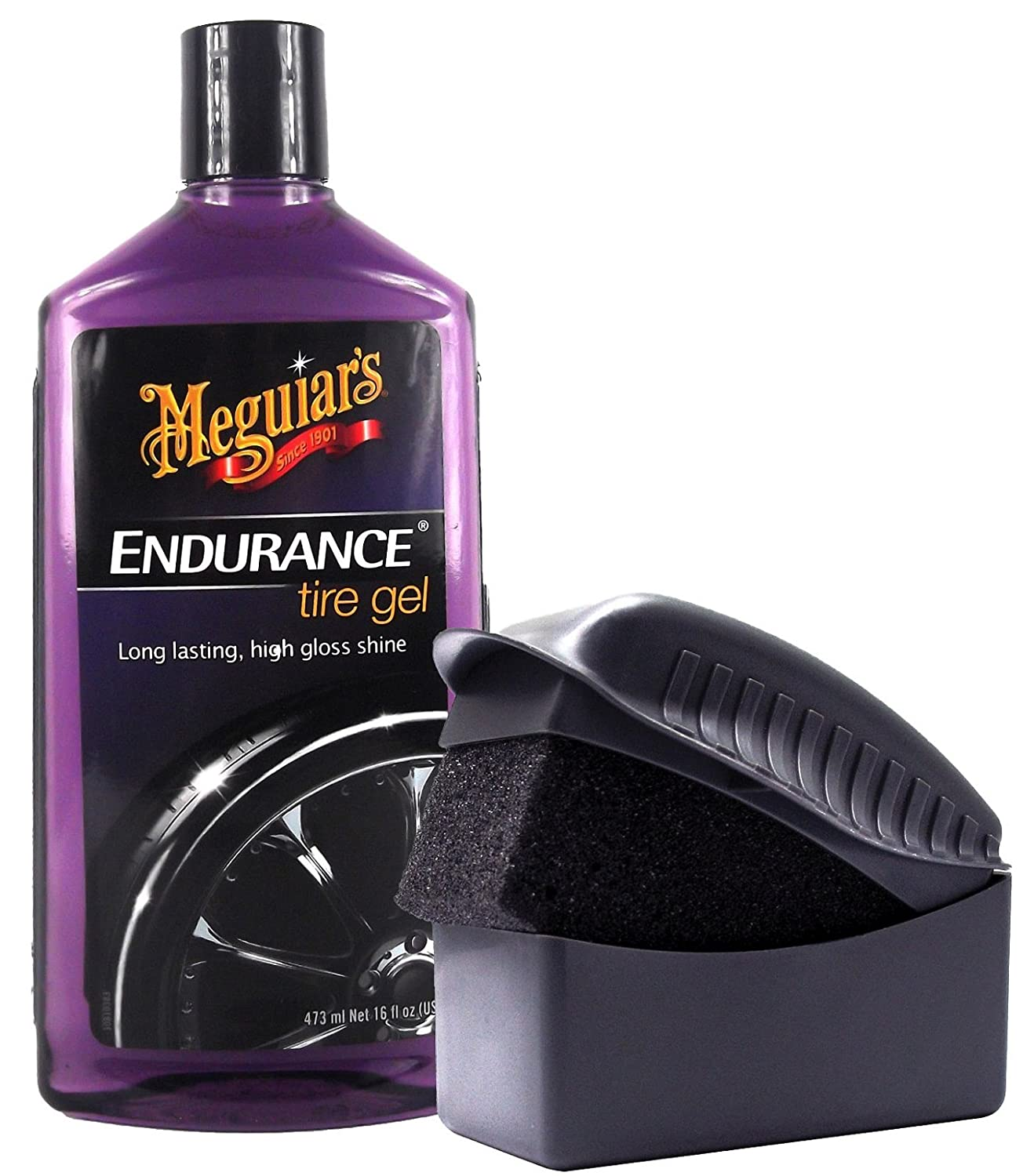 Meguiar's Meguiars Endurance High Gloss Tyre Shine Tyre Shine Gel Tyre Dressing Tyre Care 473  ml & Sponge Application Sponge MEGUIAR' S