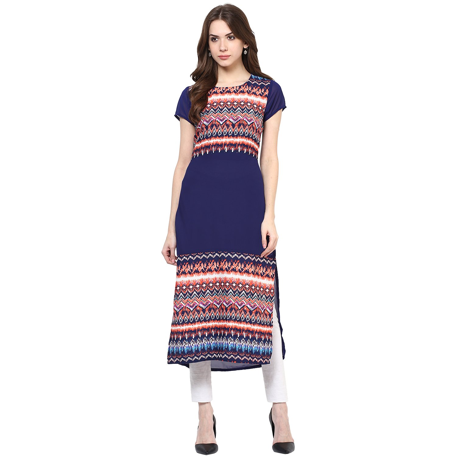 8c1230cb4c7593 Zeus blue poly crepe printed long kurti for women clothing accessories jpg  1500x1500 Lina printed poly