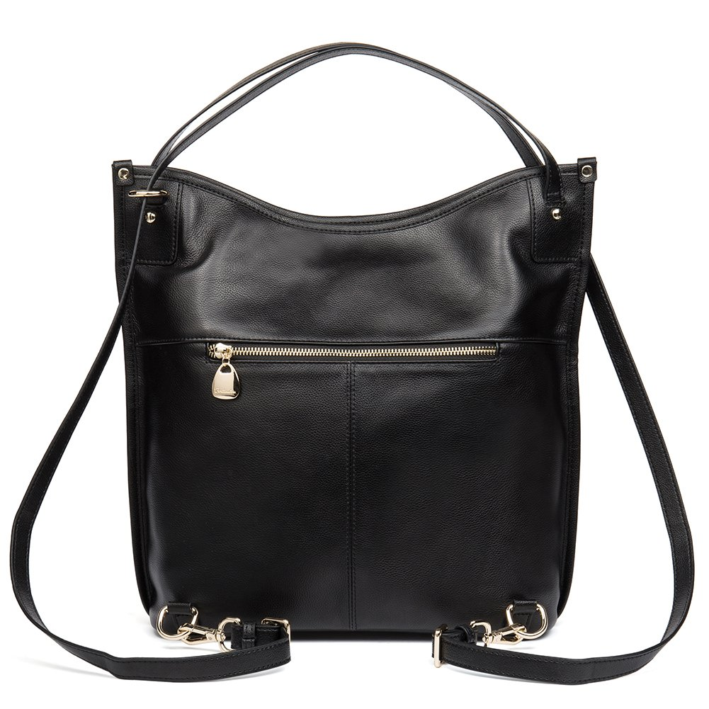 Mother's Day Gifts BOSTANTEN Women Leather Hobo Handbags Tote Purse Top-handle Shoulder Bag on Sale Black by BOSTANTEN (Image #4)