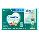 Similac for Supplementation Ready-to-Feed Infant Formula Bottles with Nipple and Ring, 2 fl oz, 8 bottles (Pack of 6)