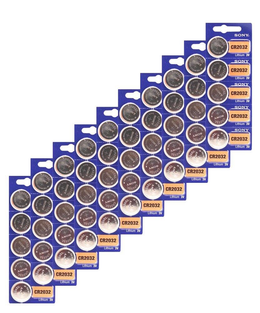 100x Sony CR2032 Batteries 3v Lithium Coin Battery Bulk Wholesale Lot FRESH