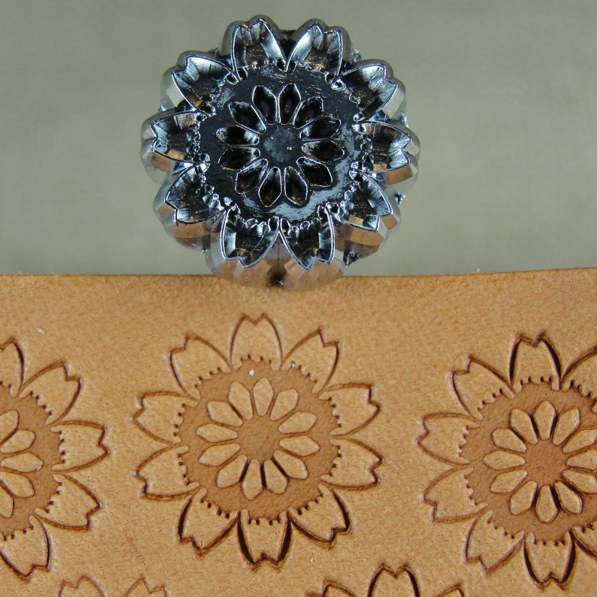 #E385 Flower Stamp Leather Stamping Tool Craft Japan
