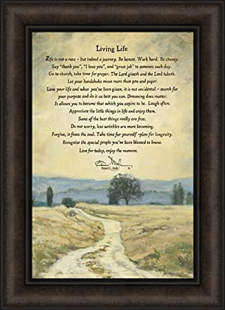 Living Life By Bonnie Mohr 16x22 Trees Landscape Dirt Road Life Is A Journey Inspirational Quote Framed Art Print Picture