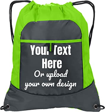Custom Event Party Personalized Embroidery Heat Transfer Multiple Light Weight Outdoor Sports Fitness Work Out Drawstring Cinch Bag