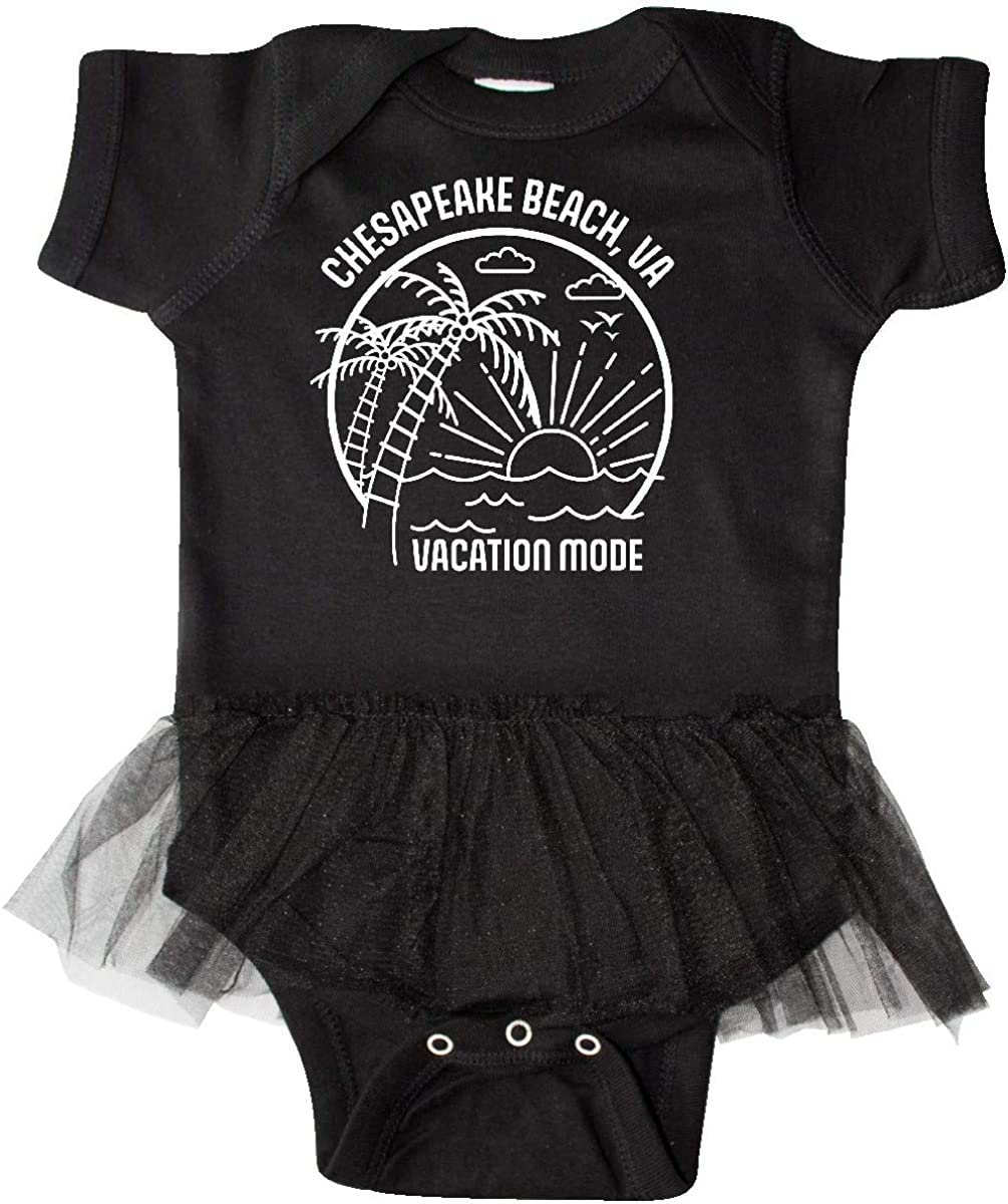 inktastic Summer Vacation Mode Chesapeake Beach Virginia Infant Tutu Bodysuit