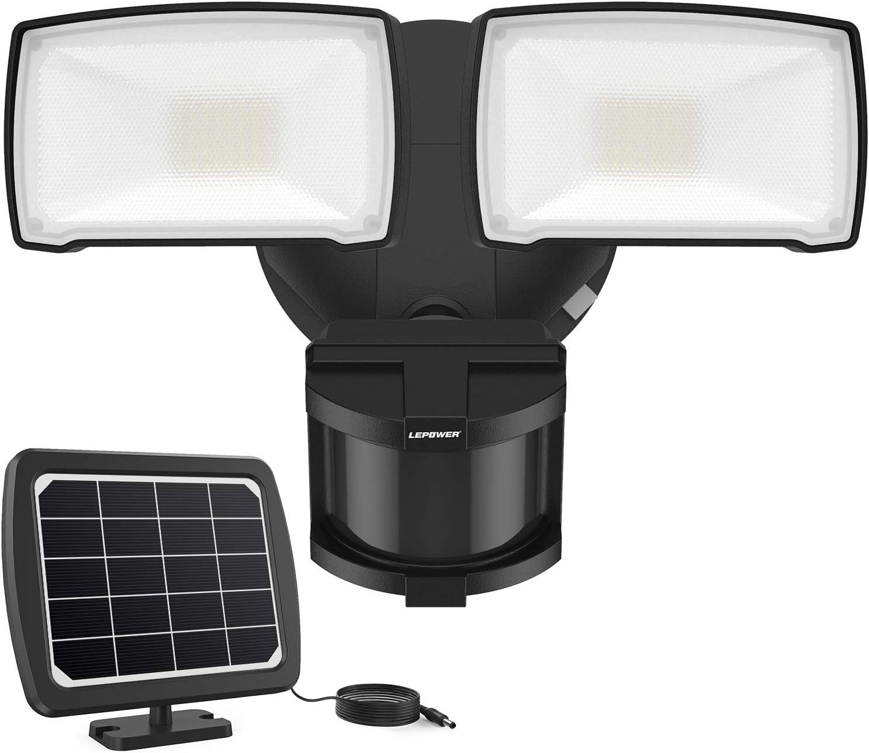 2000LM Solar LED Motion Sensor 6500K White Light Solar Security Light Outdoor