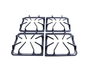 Burner Grate Kit Replacement for Frigidaire AP3965768, 318221523, Set of 4 in Graphite Gray