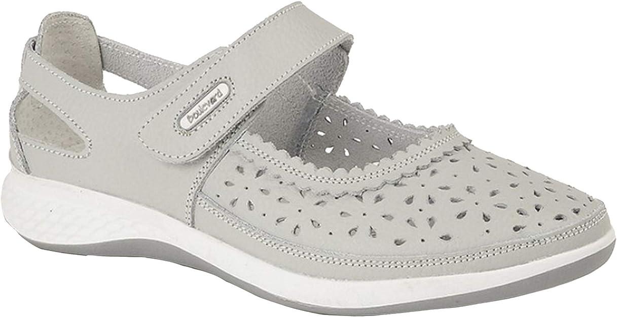 - Femme Boulevard pied large Chaussures ouvertes perfor/és
