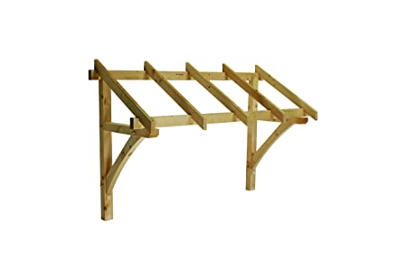 Flat Roof Porch Canopy Finest Quality Timber 1300mm Inc Gallows ...