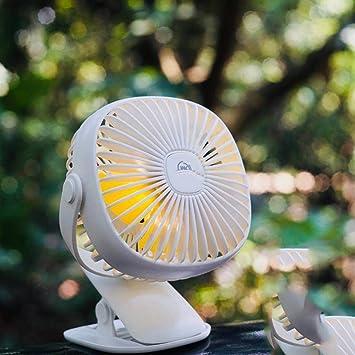 XCF Baby Elektrische Ventilator   USB Mini Clip Nacht Schlafzimmer Baby  Bett Wiederaufladbare Stumm Lüfter Fan