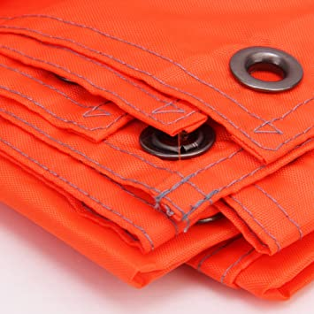 220 X 180 Cm Lona Impermeable de Tienda de Campa/ña de Color Naranja