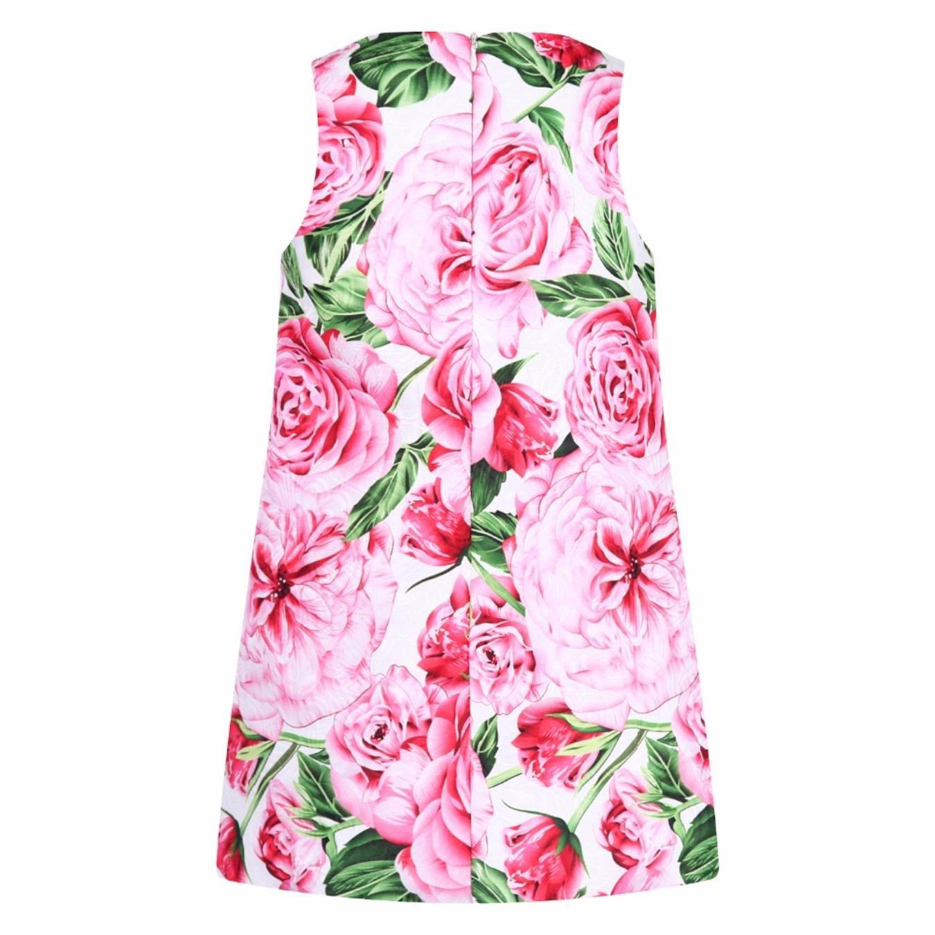 CwmCVBTJ Rose Flower Princess Dress Girls Summer Dress Children Clothing