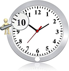Newwings Wall Clock Camera Nanny Cam with PIR Motion Detection, Indoor Security Camera for Home and Office, No WiFi Function
