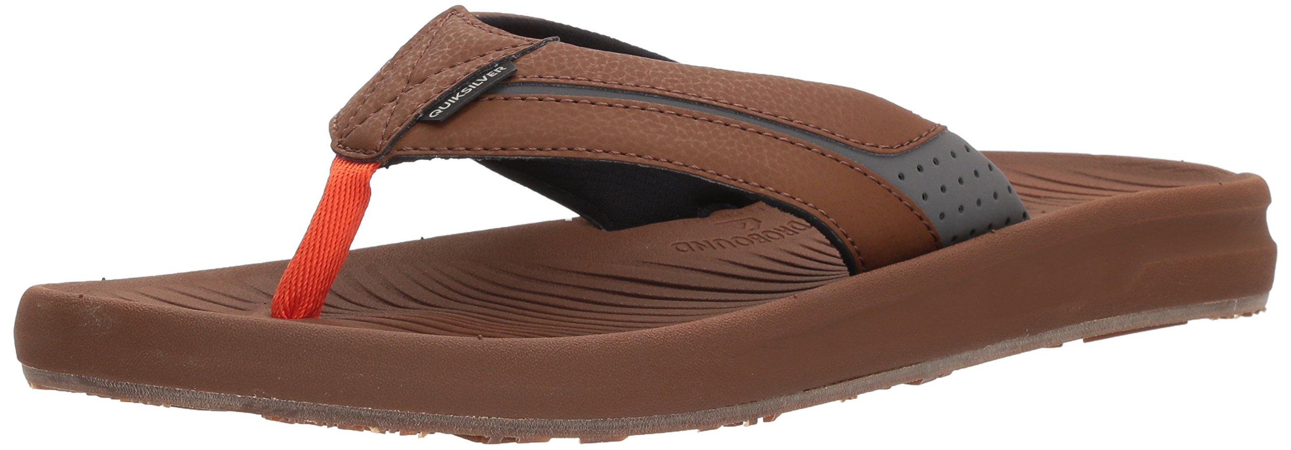 Quiksilver Men's Travel Oasis Sandal, Brown/Brown/Orange, 12 M US