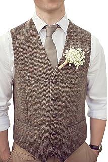 Brightmenyouth Men s Formal Vest Casual Waistcoat Dress Vests Jackets 72c3fea2af18