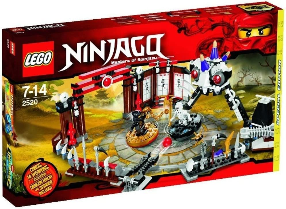 LEGO Ninjago Exclusive Limited Edition Set #2520 Ninjago Battle Arena Includes Cole Dragon Ninja Mini Figure Spinner!