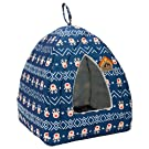 Hollypet Self-Warming 2-in-1 Foldable Comfortable Triangle Pet Cat Bed Tent House