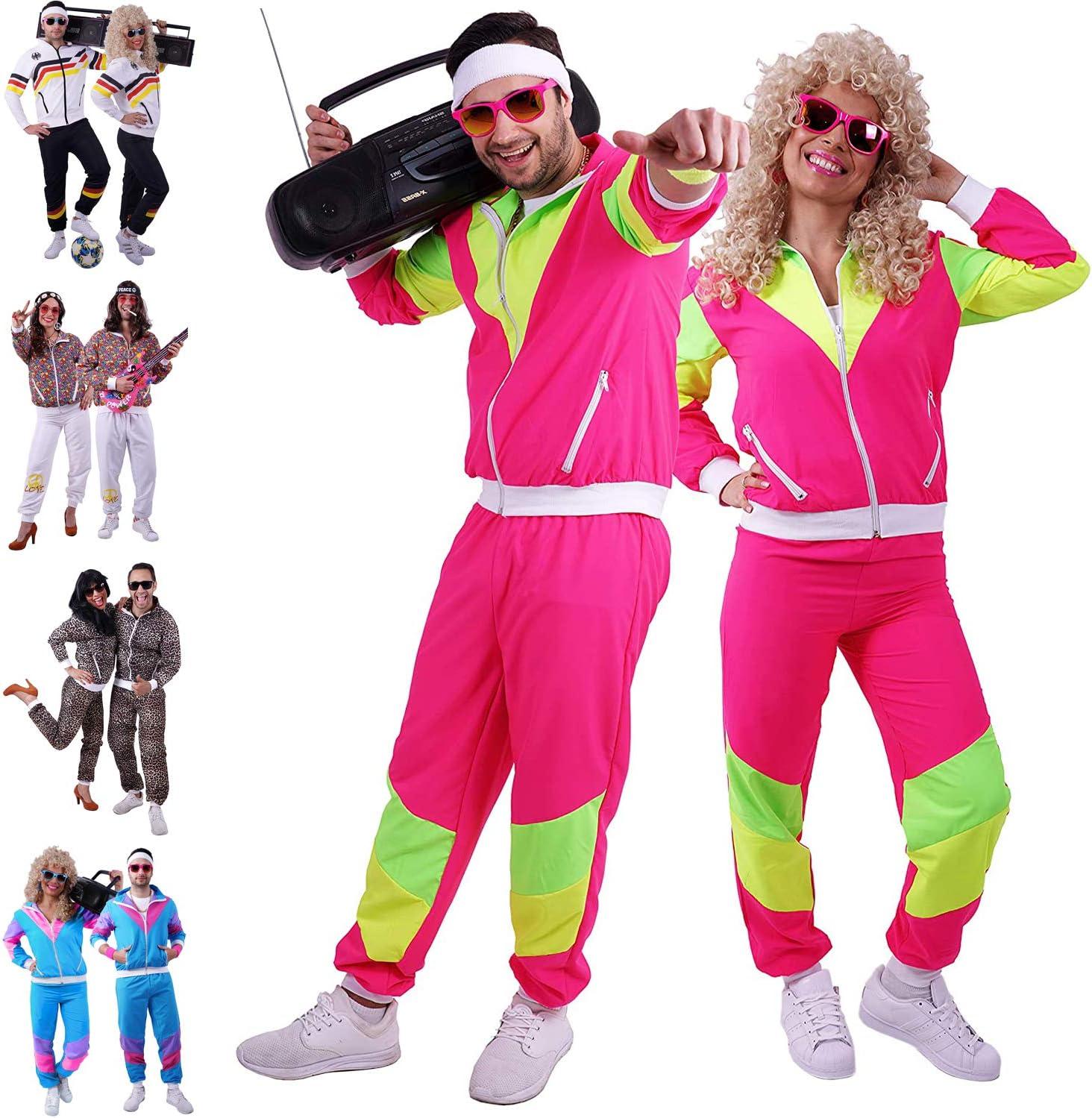 Retro Trainingsanzug f/ür Herren und Damen 90er Jahre Outfit // 80er Trainingsanzug Herren Gr/ö/ßen S 4XL FetteParty