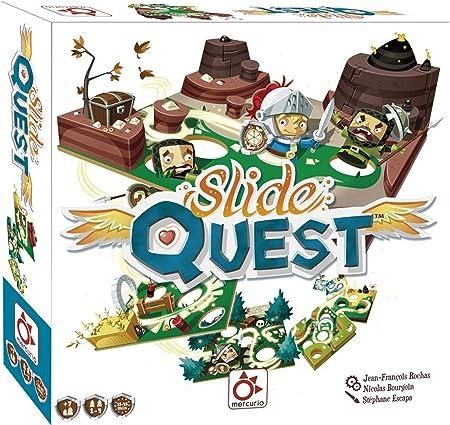 Mercurio- Juego Slide Quest para Familia Ayuda AL Caballero A Llegar A Final DE Cada Mapa, Multicolor (BO0012)