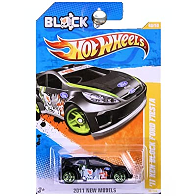2011 Hot Wheels 11 Ken Block Ford Fiesta Black #40/244: Toys & Games