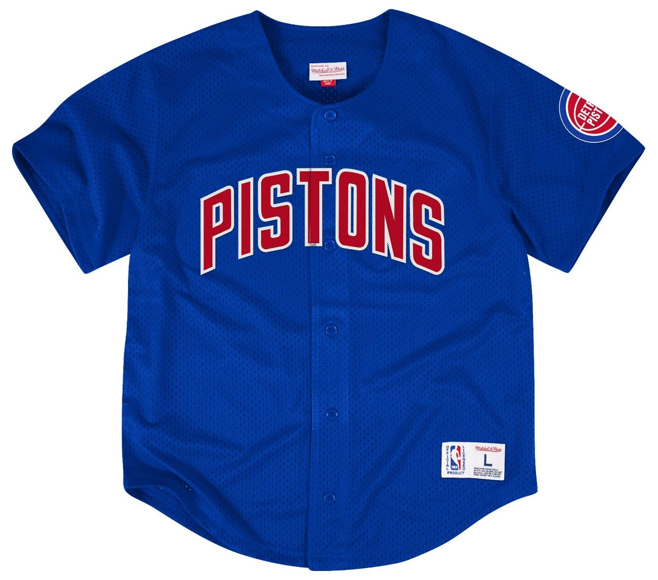 Detroit Pistons Mitchell & Ness NBA Men s Malla Button Down Jersey Camiseta Camiseta, M: Amazon.es: Deportes y aire libre