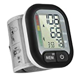 Blood Pressure Monitor for Home Use with Large Cuff (13.5cm-21.5cm),LiSmile Wrist BP monitor & Irregular Heartbeat Detector,2 User Capability with 120 Measurement Memory - 3 Years Warranty