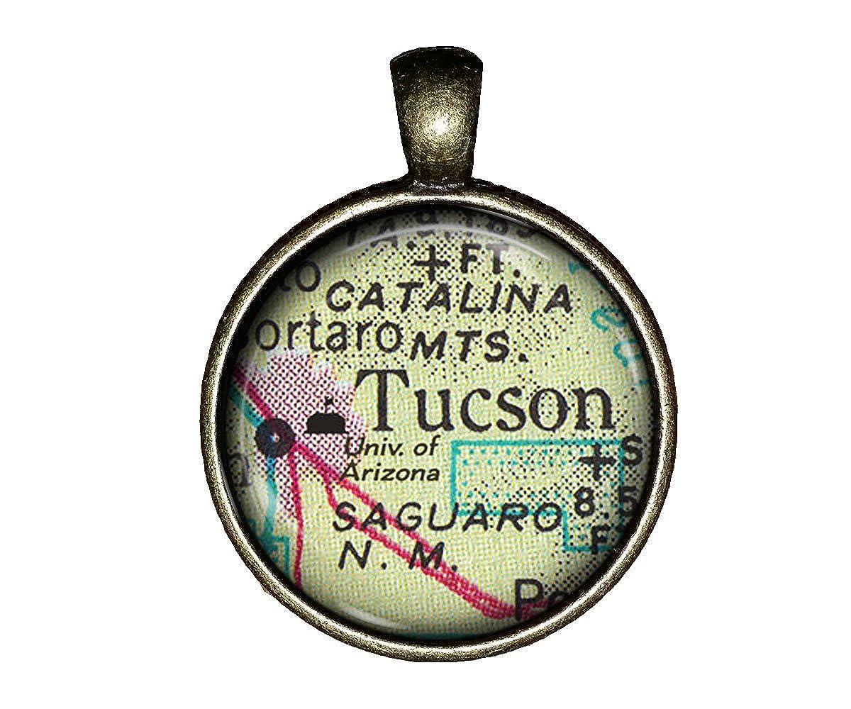 Map Of The University Of Arizona.Amazon Com University Of Arizona Necklace Map College Jewelry Gift