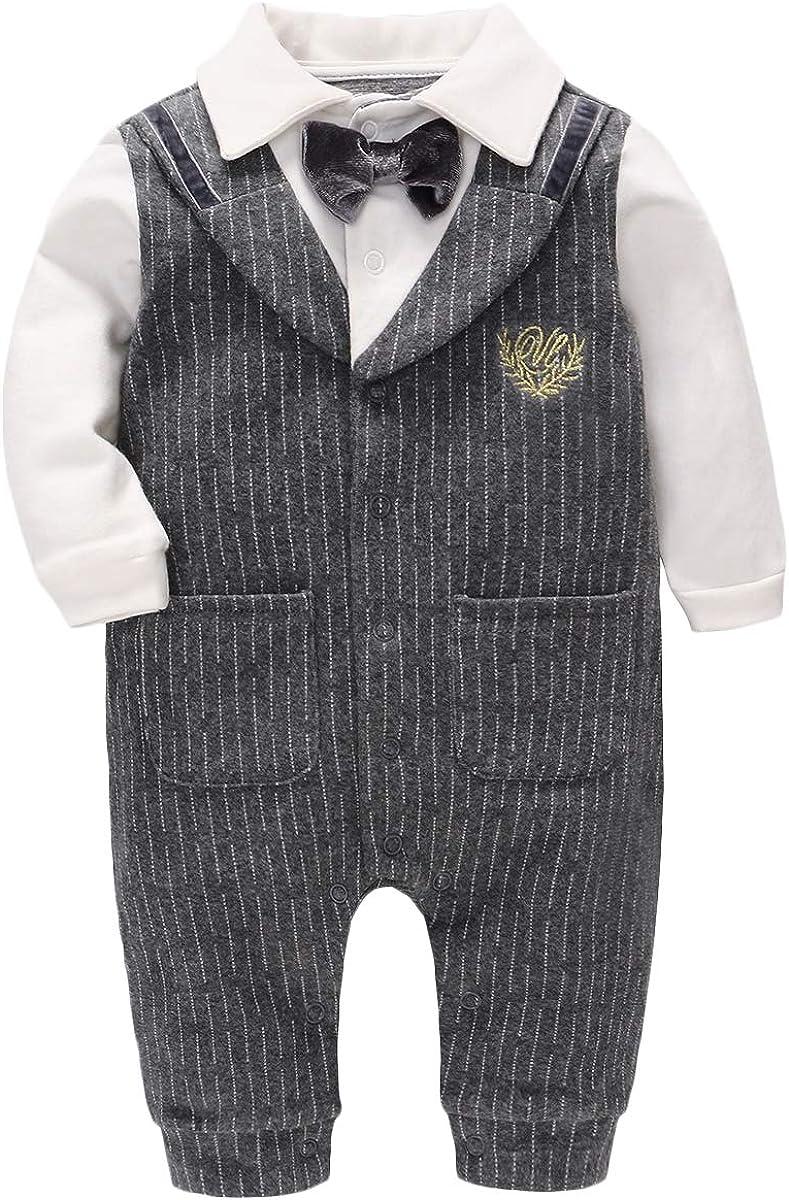 Famuka Baby Jungen Anzug Smoking Sakkos Taufe Hochzeit Babykleidung Festanzug