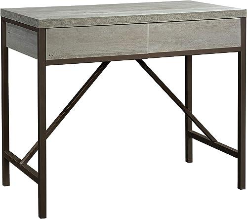 Sauder Manhattan Gate Work Table, L 44.09 x W 23.62 x H 36.06 , Mystic Oak Finish