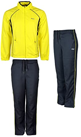 fila tracksuit. mens fila tracksuit top and bottoms long sleeve sports joggin suit concealed hood l