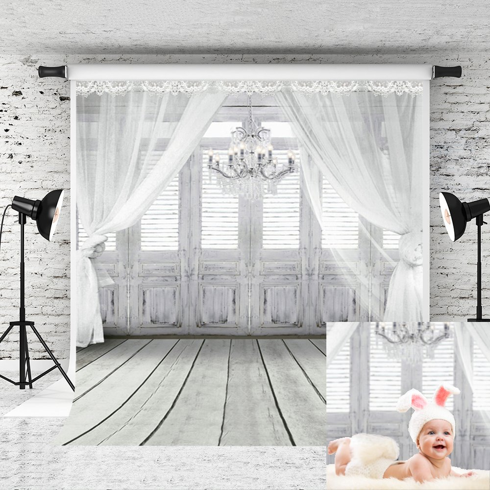 Kate 5x7ft Backdrop Curtain for Photography Baby Shower Backdrop Chandelier Newborn Photography Props