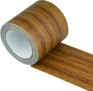Repair Tape Patch Wood Textured Adhesive, Marrywindix 1 Roll 15 Feet Wood Grain High Adhesive Repair Tape for Furniture Floor Beautification and Home Decoration (Brown Antique Oak)