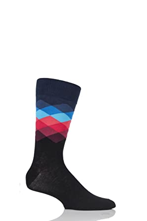 f17d45a0a Amazon.com: Happy Socks –Colorful Fun Patterned Cotton Socks for Men and  Women: Clothing