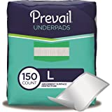 Prevail Fluff Underpads, Large, 150 Total Count (Packaging May Vary)