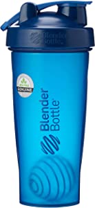 BlenderBottle Classic Loop Top Shaker Bottle, 32-Ounce, Navy/Navy