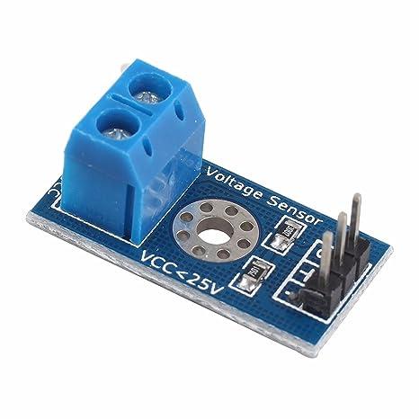 Detector de tensión de 25V max Gama 3 Terminal Módulo sensor para Arduino