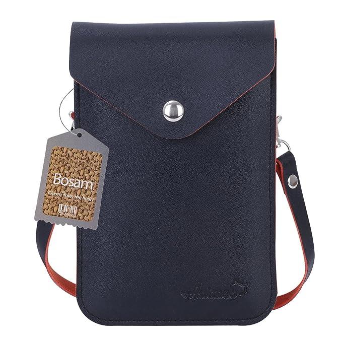 Amazon.com: Moda Cruz Cuerpo Cellphone tipo portafolios para ...