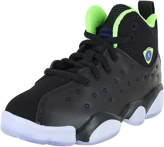 Air Jordan Jumpman Team II PR # 861433 012 Black Green Pre School Sz 11-3