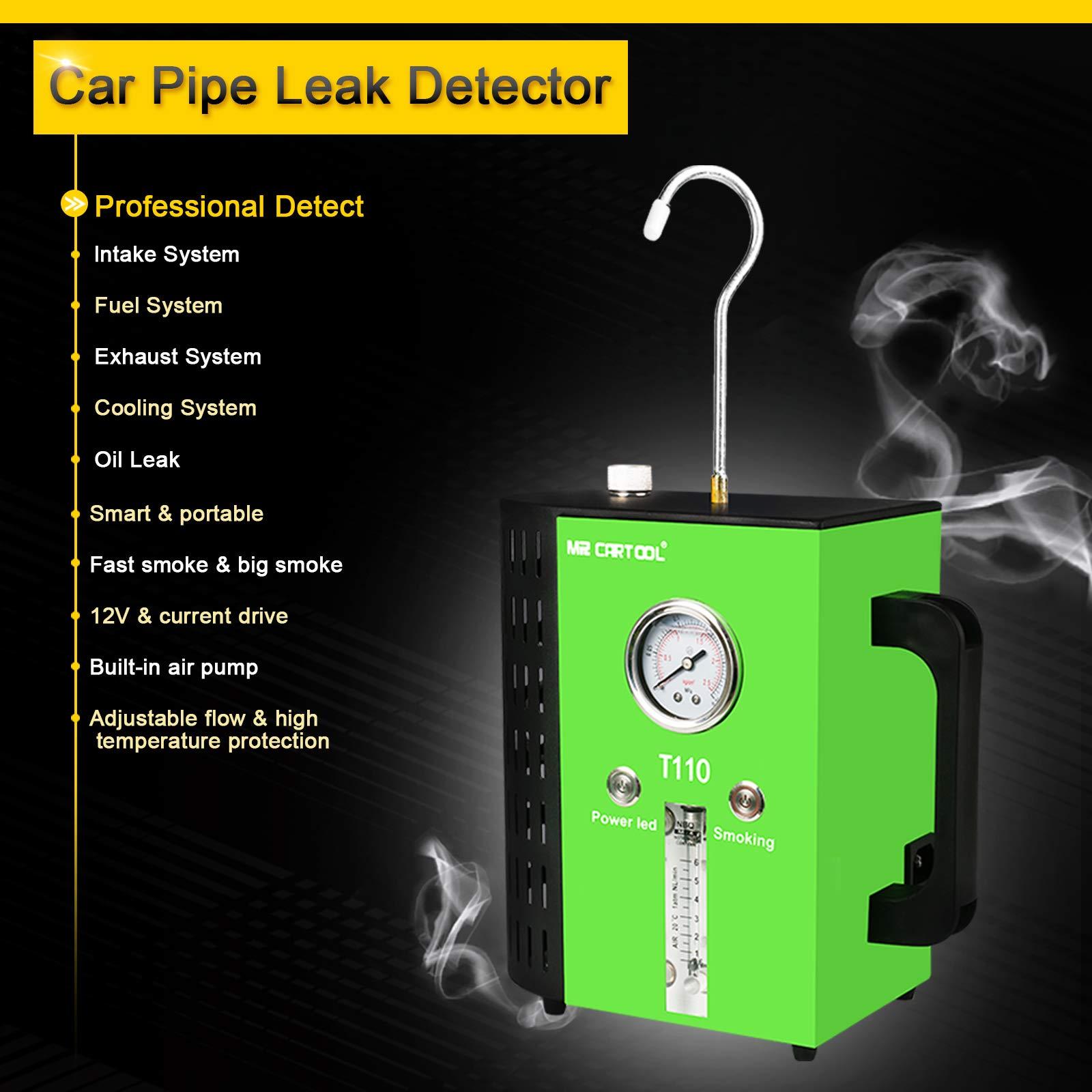 T110 12V Automotive Fuel Leak Detectors Cars Leak Locator Tester Car Fuel Leak Detectors Car Pipe Leakage Tester Support EVAP for All Vehicles by T110 (Image #3)