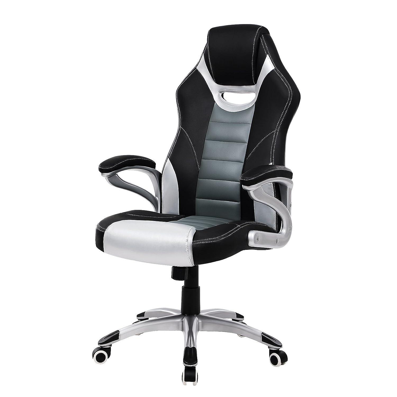 beautiful songmics sedia ergonomica da ufficio poltrona girevole direzionale da studio scrivania a forma sportiva pu obgs with se svedesi ergonomiche