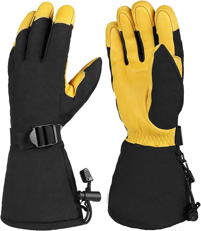 Women Winter Water//Wind Resistant Ski Mittens Snowboard Gloves
