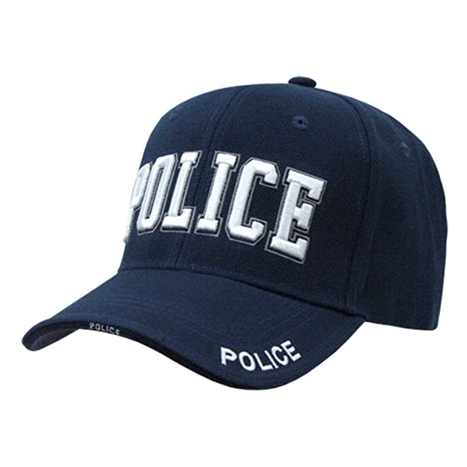 Image Unavailable. Image not available for. Color  Police Officer  adjustable baseball cap blue   white 2e9e7601d73