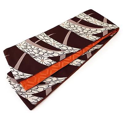 (オオキニ)大喜賑 半幅帯 日本製 リバーシブル 浴衣 帯 レディース 花デザイン