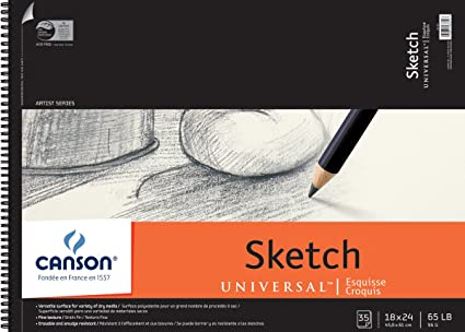 Amazoncom Canson Universal Sketch Paper Pad 18x24 35 Sheets