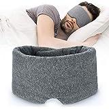 100% Handmade Cotton Sleep Mask Blackout - Comfortable & Breathable Eye Mask for Sleeping Adjustable Blinder Blindfold Airpla