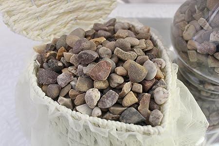Natural maceta decorativa de piedras de Río de bricolaje perlas de guijarros piedras casa jardín jarrón pieza central, 1000g: Amazon.es: Hogar